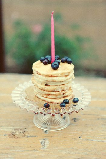A pancake birthday party
