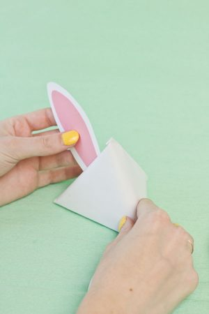DIY Easter Bunny Treat Pouches Step 10