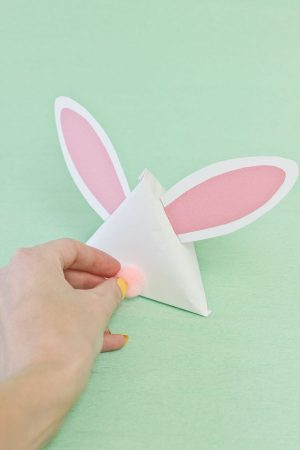 DIY Easter Bunny Treat Pouches Step 13
