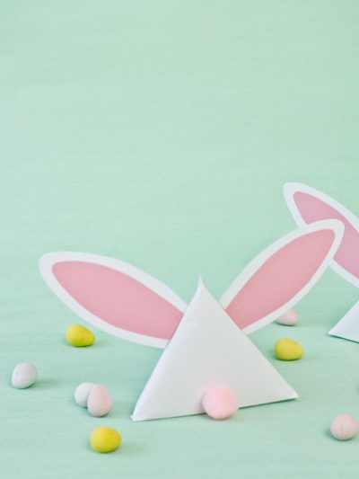 DIY Easter Bunny Treat Pouches thumbnail