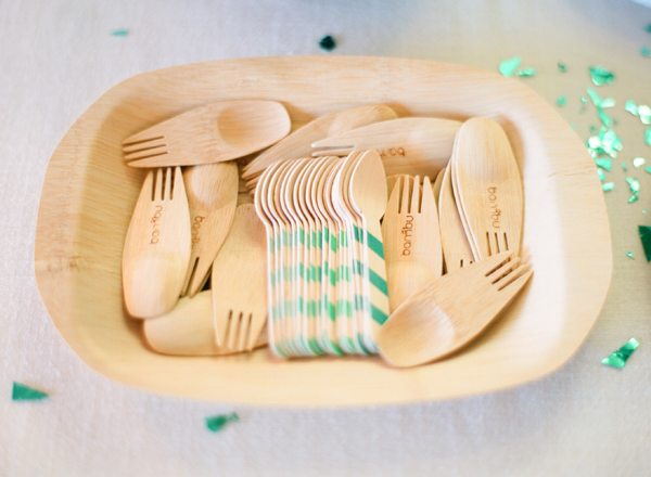 Striped Bamboo Utensils | The Sweetest Occasion