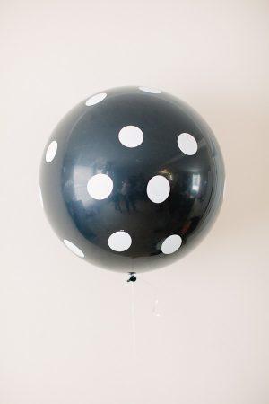 Black Polka Dot Balloon