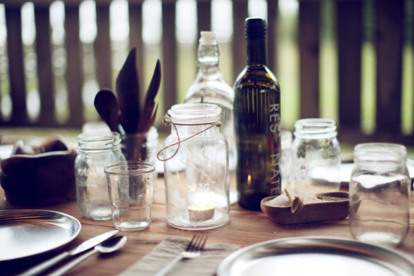 A cozy seaside dinner party