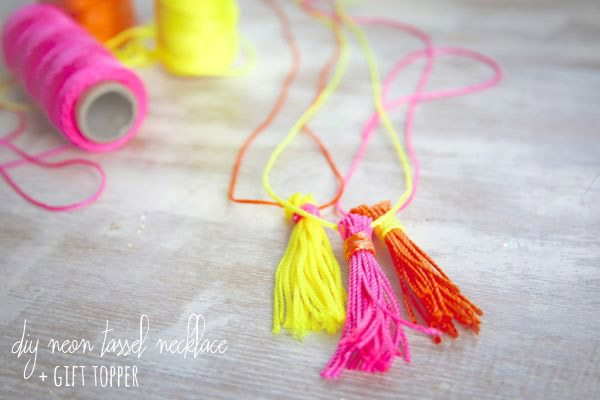 DIY Neon Tassel Necklace | Henry Happened for The Sweetest Occasion