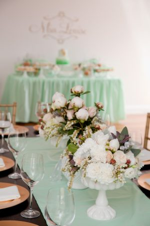 Milk Glass Centerpieces