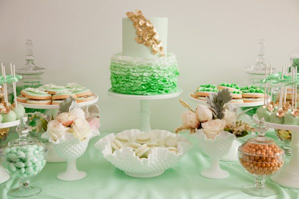 Mint + Gold Dessert Buffet