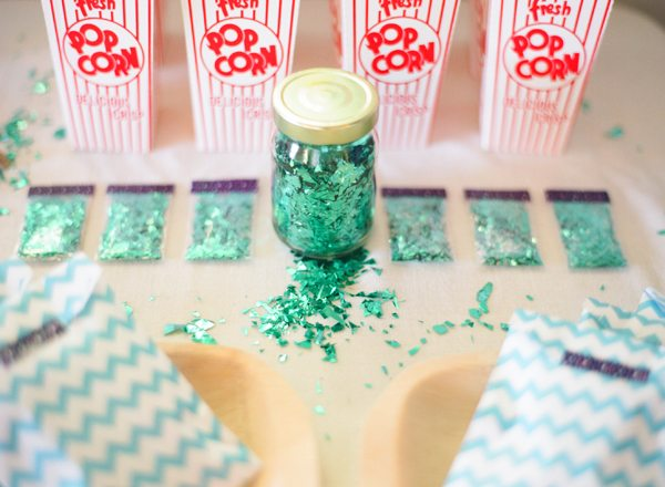 Green Tinsel Confetti | The Sweetest Occasion