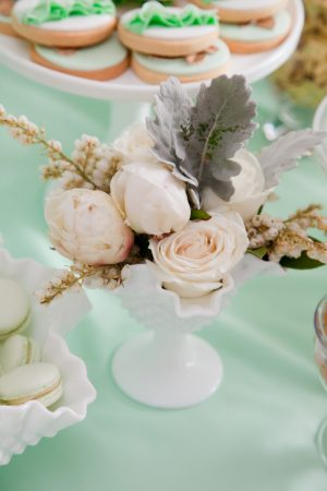 Milk Glass Centerpiece
