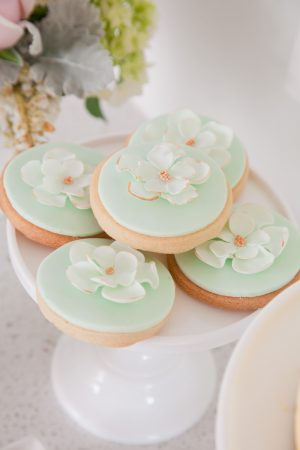 Mint Flower Cookies