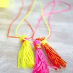 DIY Neon Tassel Necklace + Gift Topper