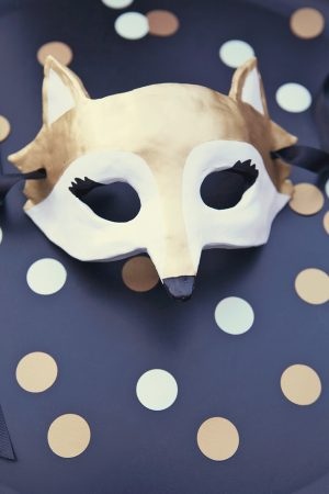 Party animal mask photobooth prop