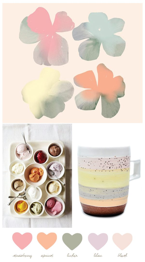 Coffee inspired color palette color palettes - Peach color paint palette ...
