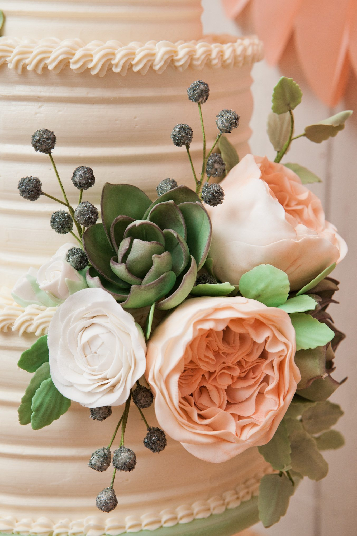 Peonyweddingcake The Sweetest Occasion - Peony Wedding Cake