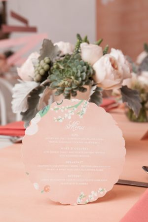 Wedding stationery + menus by Minted