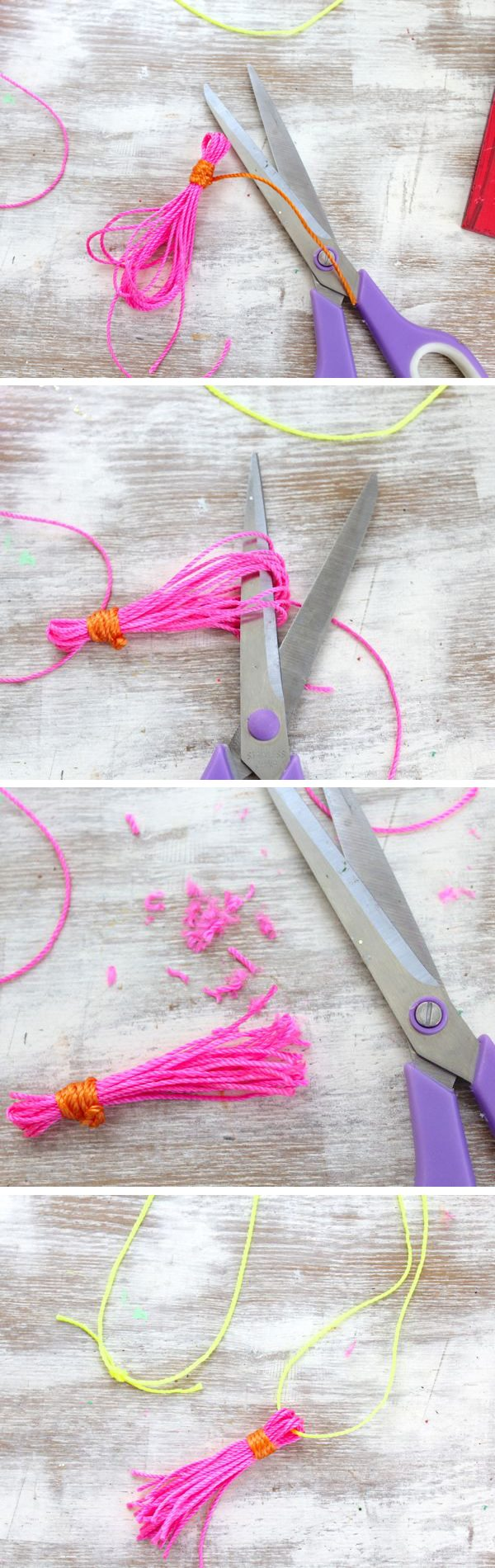 How to make a neon tassel | The Sweetest Occasion