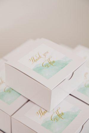 Watercolor Favor Boxes