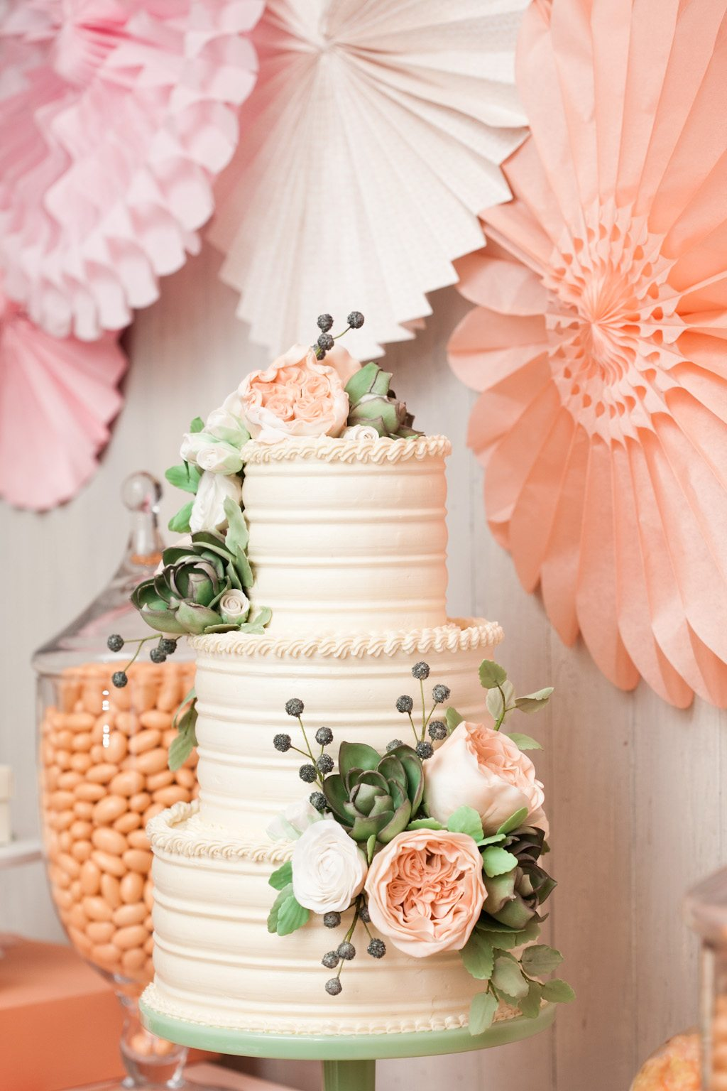 wedding cake with flowers The Sweetest Occasion — The