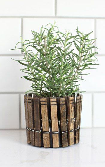 DIY Clothespin Planter