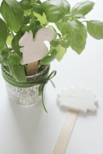 DIY Clay Animal Plant Markers