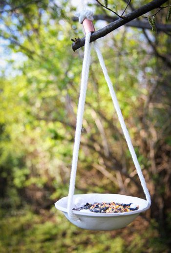 DIY Hanging Clay Bird Feeder