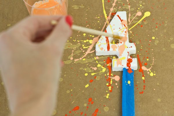DIY Splatter Paint Cake Toppers