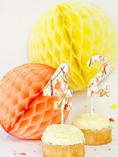 DIY Splatter Paint Cake Toppers thumbnail