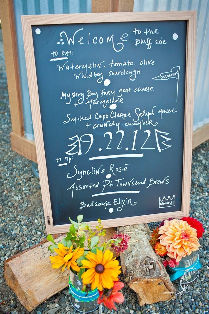 60th Birthday Dinner Party Ideas Part - 31: Birthday Party Crown. Chalkboard Welcome Sign Dahlia Centerpiece