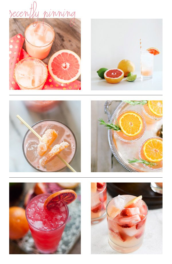 Recently Pinning: Citrus Cocktails