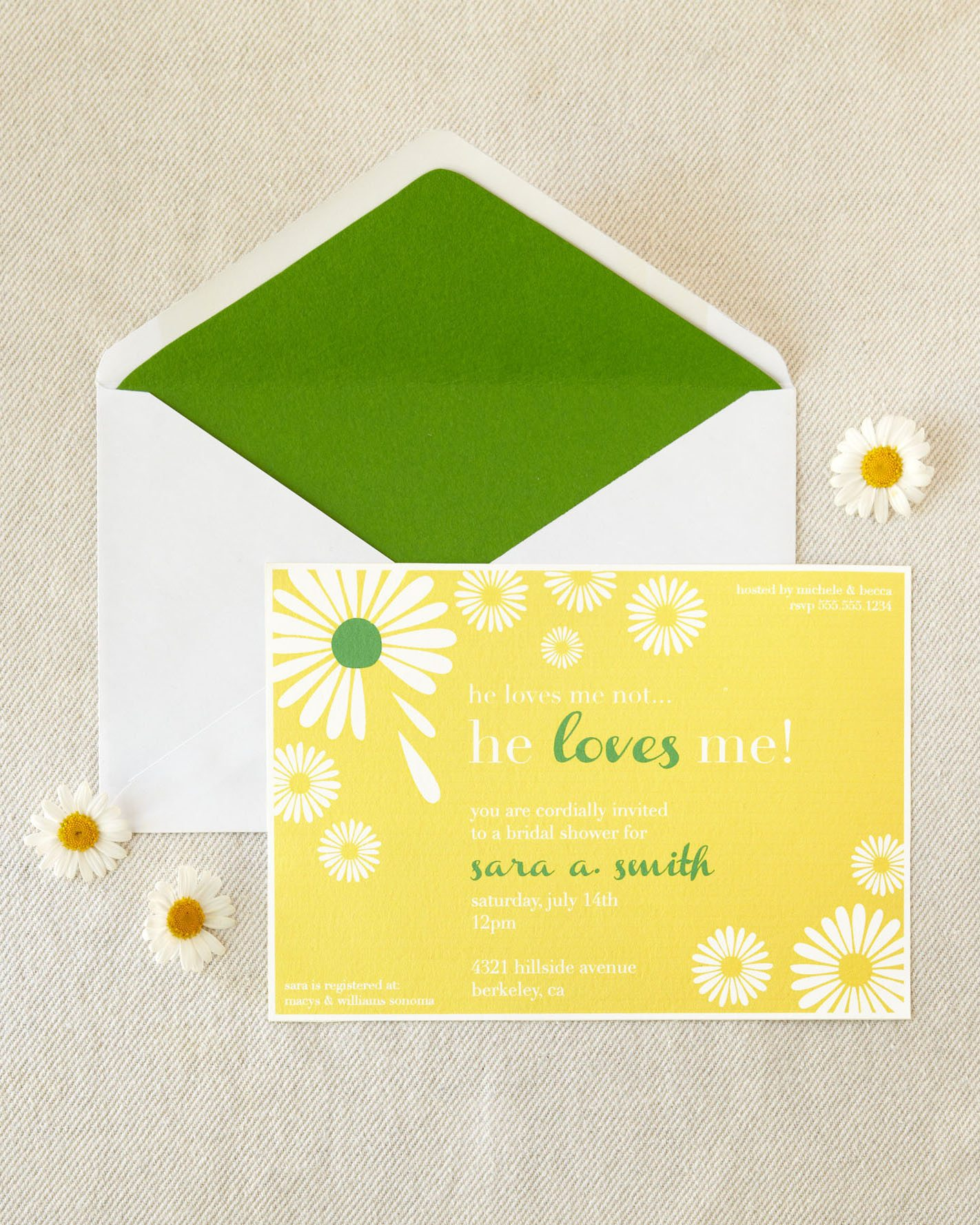 daisy bridal shower invitations view more from a daisy spring bridal ...