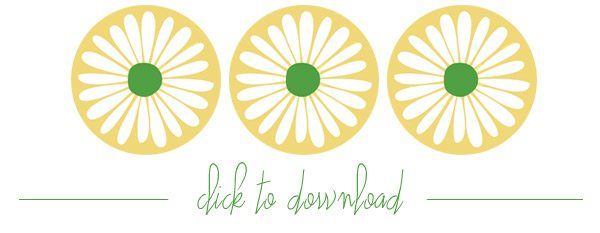 Printable Daisy Favor Tags
