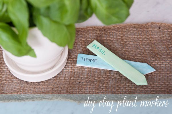 DIY Clay Plant Markers