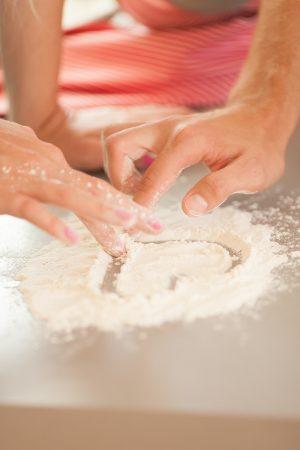 heart-in-flour
