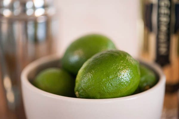 Fresh limes for cocktails