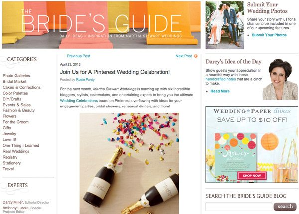 Martha Stewart Weddings Blog