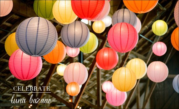 Beautiful Paper Lanterns from Luna Bazaar