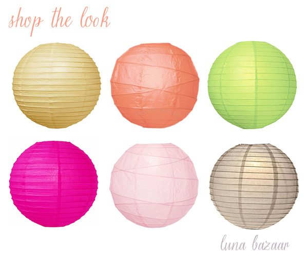 Buy paper lanterns from Luna Bazaar