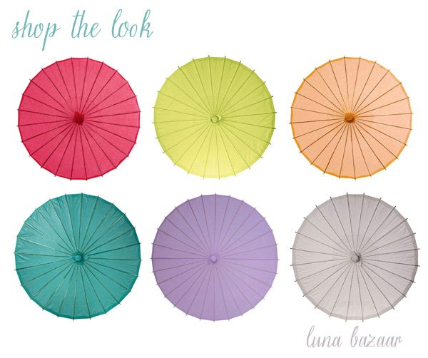 Buy paper parasols from Luna Bazaar