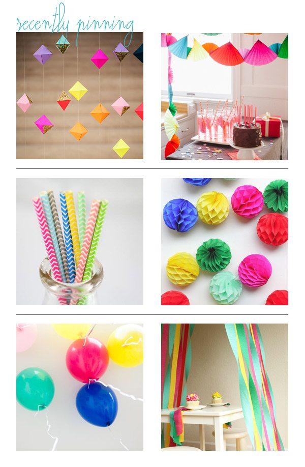 Bright + cheerful rainbow party ideas