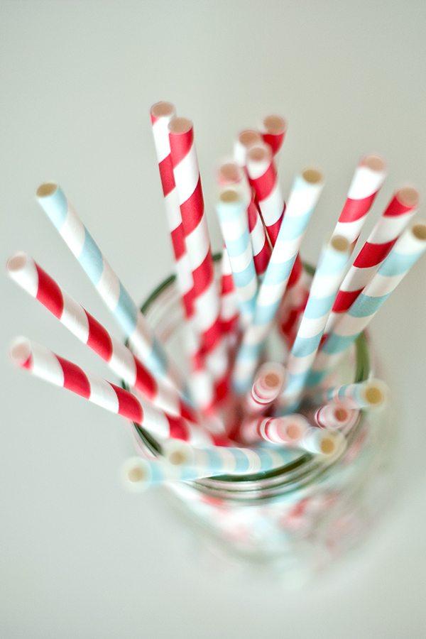 Striped Straws Paper Striped Paper Straws