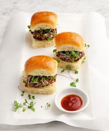 Walnut-Miso Veggie Sliders