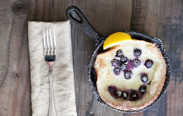 Blueberry Dutch Pancakes