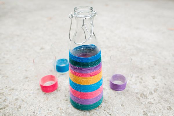 DIY Wrapped Carafe