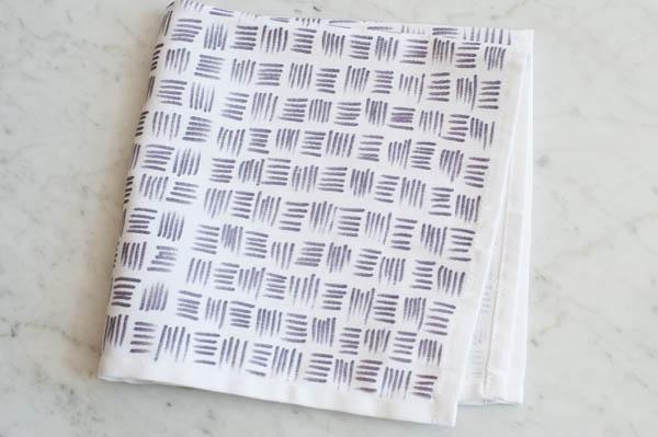 DIY Patterned Cloth Napkins