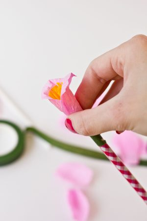 DIY Paper Flower Pencils