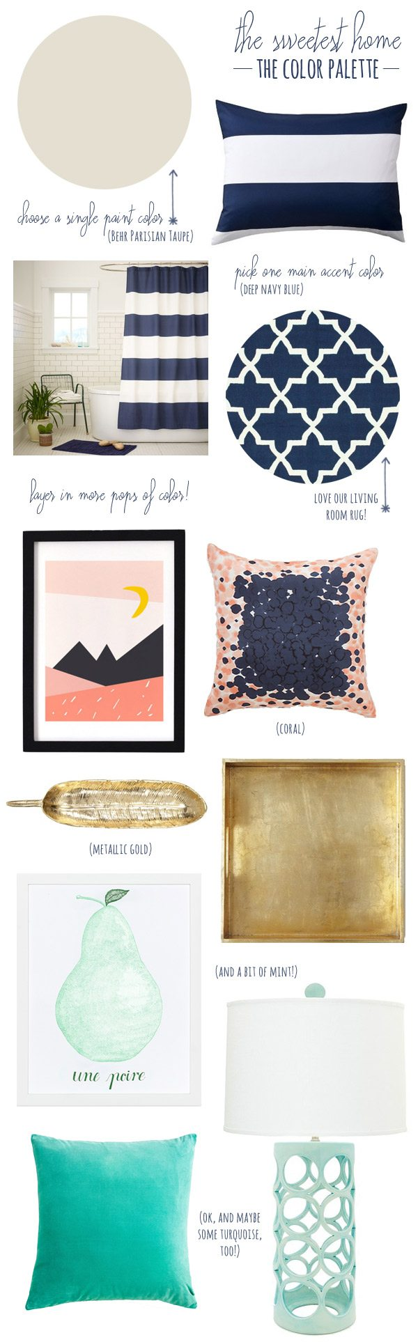 How to create a cohesive color palette in your home from The Sweetest Occasion