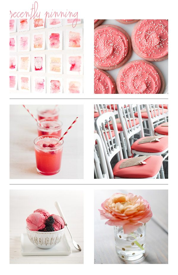 Recently Pinning: Coral + Pink