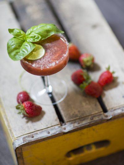 Strawberry Balsamic Margarita + Black Pepper Shortcake thumbnail