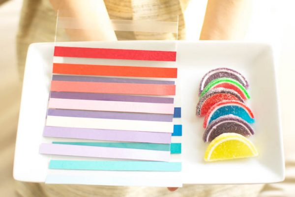 DIY Striped Ombre Favor Bags