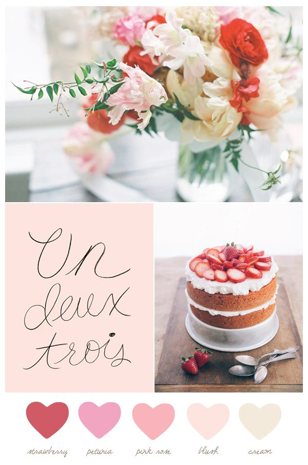 Color Palette: Strawberry + Cream