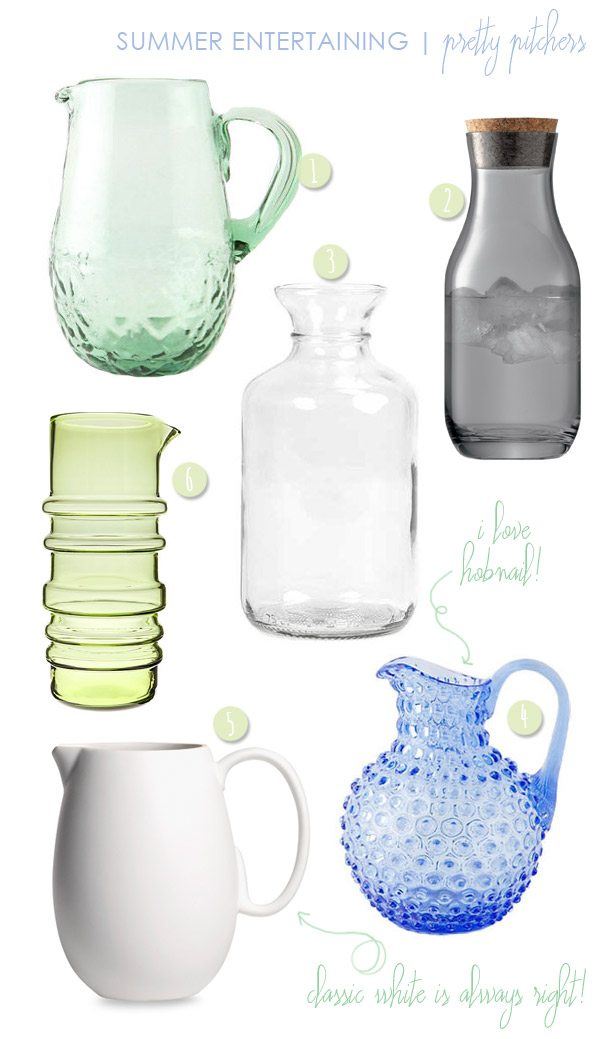 Summer Entertaining: Pretty Pitchers